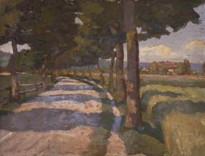 "1.-Emil-Nolde,-""Landevej "", Maleri 1898, © Nolde Stiftung Seebüll"