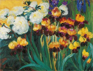 10-Emil-Nolde-Päonien-und-Iris-Gemälde-1936-©-Nolde-Stiftung-Seebüll