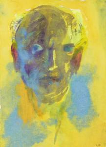 13.--Emil-Nolde,-Selbstbildnis-(auf-gelbem-Grund),-Aquarell-1925-27,-©Nolde-Stiftung-Seebüll