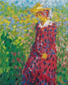 4.--Emil-Nolde,-Junge-Frau,-Gemälde-1907,-©-Nolde-Stiftung-Seebüll
