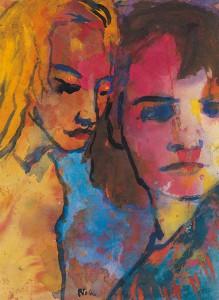 Emil Nolde, Junges Paar, Aquarell, © Nolde Stiftung Seebüll
