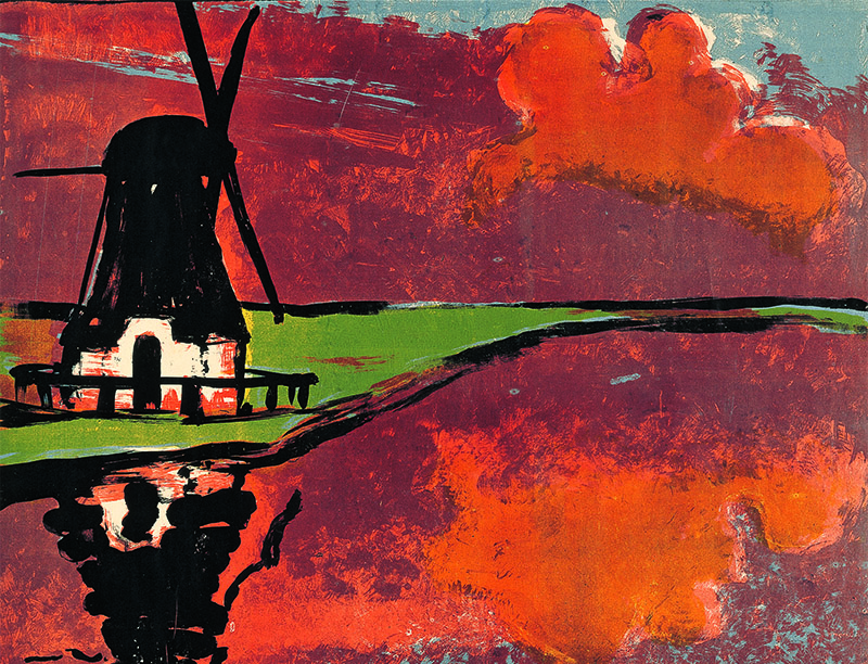 Mill on the Water, Lithography 1926 © Nolde Stiftung Seebüll