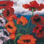 Großer Mohn (rot, rot, rot), Gemälde 1942