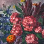 Flox und Fuchsschwänze, Gemälde 1940