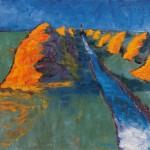 Heudiemen am Sielzug, Gemälde 1939
