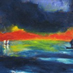 Glühender Meeresabend, Gemälde 1949