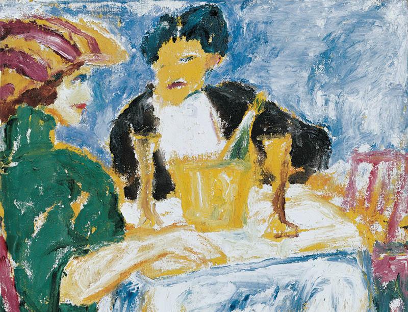 01 434 Emil Nolde, Herr und Dame (im grünen Kleid), Gemälde 1911, ©Nolde Stiftung Seebüll - mid